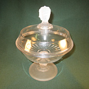 SOLD Three Faces Covered Compote