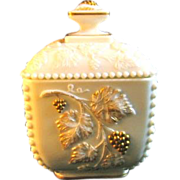 Westmoreland Beaded Grape Puff Box with 22K Gold Decoration