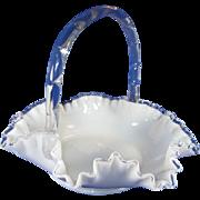 """Fenton Silver Crest 11"""" Basket"""