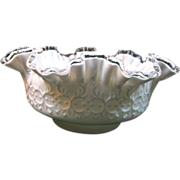 SALE Fenton Spanish Lace with Silver Crest Bowl