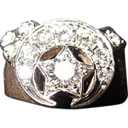 Shriner Ring 14K Gold and Diamonds