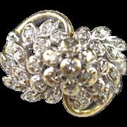 SOLD Diamond Cluster Ring in 14K Gold