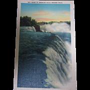 "Vintage Linen Postcard ""Brink of American Falls, Niagara Falls"