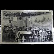 Vintage Postcard of Cedar Dining Room at Buckhorn