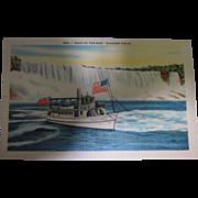 """Vintage Postcard """"Maid of The Mist"""" Postcard"""