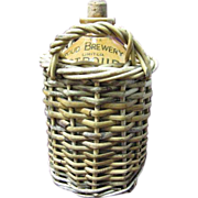 The Stroud Brewery Co. Jug in Wicker Basket w/original cork, Barware