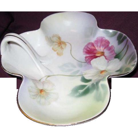 Vintage Porcelain Dish with Handle