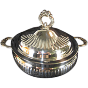 Covered Silverplate Serving Dish by Leonard