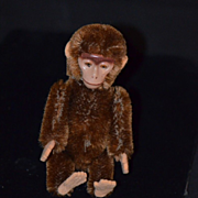 REDUCED Old Schuco Yes No Monkey Metal Face Mohair Mechanical Miniature Doll Size