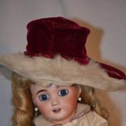 REDUCED Antique Miniature Sara Sue  Original Doll Hat Miller & Rhodes  Fancy