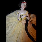 REDUCED Antique Half Doll China Head Fancy Unusual