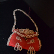 REDUCED Antique Miniature WONDERFUL Beaded Doll Purse For Fashion Doll