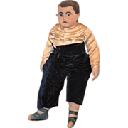 REDUCED Antique Doll Cloth Alabama Baby Doll BOY Adorable