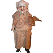 REDUCED Antique Doll Bisque & Wood Character Doll Unusual Miniature