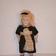 REDUCED Antique Doll Bisque Miniature Maid All Bisque