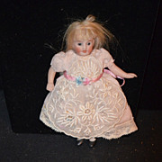REDUCED Antique Doll Miniature All Bisque Dollhouse
