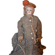 SOLD Antique Doll French Bisque Fashion Lady FG Dressed