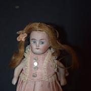 REDUCED Antique Doll Miniature All Bisque Dollhouse Adorable Clothes