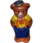 REDUCED Antique Toy Bear Walking Tin Wind Up Chein