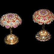 REDUCED Vintage Doll Miniature Dollhouse Lamps Pair Lamp Set