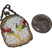 REDUCED Old Doll Miniature Beaded Purse