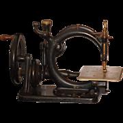 SOLD Antique Miniature Sewing Machine Wilcox & Gibbs Cast Iron