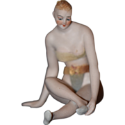 REDUCED Antique Doll Figurine Bathing Beauty Nude Risque Galluba & Hofmann Kister