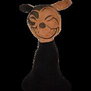 REDUCED Antique FELIX THE CAT Cloth Doll Stuffed Animal Rare