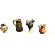 REDUCED Old Miniature Doll Dollhouse Doll House Pottery & China and More Vases Urns