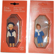 REDUCED Vintage Doll Erna Meyer German Miniature Dollhouse In Package
