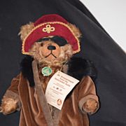 Vintage Hermann Teddy Bear Pirate Mr. Drosselmeyer W/ Tags