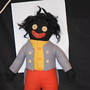 Antique Doll Deans Rag Doll Golliwog Gollywog Black Cloth