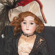 Antique Doll Bisque Large Unusual Antique Clothing