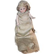 Antique Doll Miniature Bisque Dollhouse All Bisque French Market
