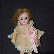 Antique Doll Miniature Bisque Head Dollhouse CUTIE