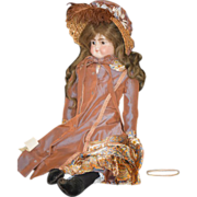 Antique Doll Bisque Solid Dome Head Turned Head Dressed ABG Gorgeous