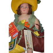 Vintage Doll Lenci Cloth Doll in Original Box Regional Conference Exposition of Dolls