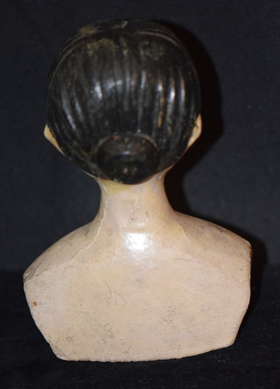 Antique Doll Carved Wood Doll Head Wonderful Features From