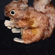 Old Steiff Squirrel Perri W/ Tag Mohair Doll Toy