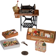 Wonderful Doll Miniature Sewing Machine Dollhouse Sewing Accessories