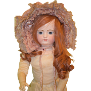 Antique Doll French Bisque BeBe FG w/ Gesland Body W/ Fancy Antique Doll Hat Gaultier