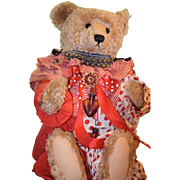 Wonderful Vintage Teddy Bear LARGE Steiff W/ Old Clown Suit and Accessories Jointed Mohair ...