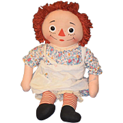 Vintage Doll Raggedy Ann Cloth Doll Rag Doll Knickerbocker BIG