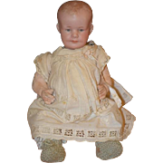 Antique Doll Bisque RARE Character 500 AM with Intaglio Eyes Sweet Baby Body