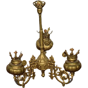 Antique Doll Miniature Ornate Chandelier Working For Larger Dollhouse Or Fashion Doll Room