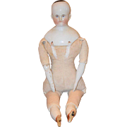 Old Doll Biedermeier China Head Doll Cabinet Size Sweet