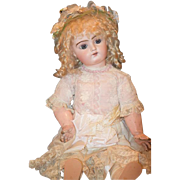 Antique Doll French Bisque Girl GORGEOUS On French Composition Body Straight Wrist