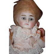 Antique Doll Miniature All Bisque Wrestler Dollhouse: Mignonette French Market