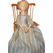 SOLD Sale Pending PENDING Wonderful Doll Vintage Wood Jointed Artist Fred Laughon LARGE Queen