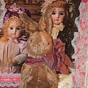 Old Rabbit Doll Mohair Doll Toy